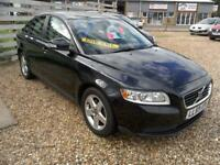 2009 Volvo S40 2.0 S Diesel in Black Only 76K FSH Aircon 6Speed 2Owners Exc Cond