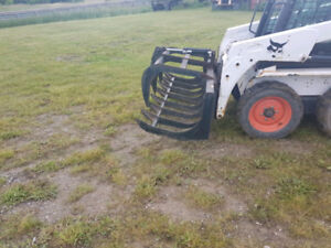 grapple attachments for skid steer