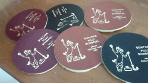 Gunther Filly Bonspiel Brant Curling Club 1970 - 6 Coasters