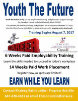 Free Employment Program - CCRW Youth The Future August Start