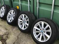 BMW 5 SERIES F10 17''ALLOYS WHEELS WITH TYRES.