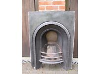 Victorian (likely original) cast iron Fireplace with contemporary painted wooden surround