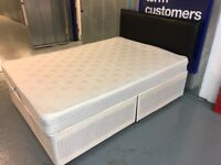 DOUBLE DIVAN WITH MATTRESS AND HEADBOARD (no drawers)