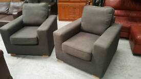 2 modern grey chairs in vgc not very old can deliver 07808222995
