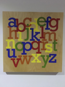 Wooden Alphabet Wall Art from Target $5