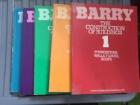5 Barry Construction of Building books in used condition