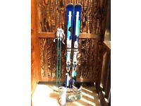 Women's skis 156cm ski boots uk size 6 poles 115cm