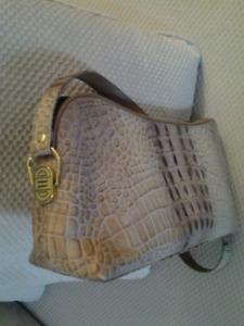 Quebec Designer Purse Embossed Leather.