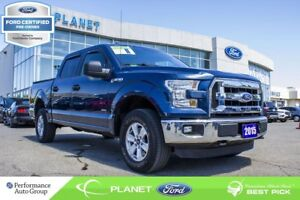 2015 Ford F-150 XLT|3.5L|V-6|4x4|SUPERCREW|FORD CERTIFIED