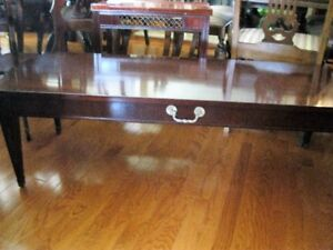 proff refinished quality mahogany coffee @ end tables