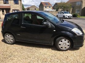 Black Citroen C2 - good condition, good price and very cheap to run