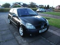 2004 RENAULT CLIO 1.1 BLACK RECENT CAMBELT 12 MONTH M.O.T.
