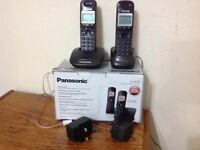 2 Panasonic Digital Cordless Phones Call Blocker