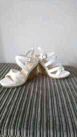 White Newlook Wedges 7