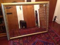 Large gilt edged mirror