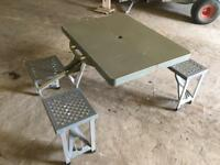 Kids camping table/bench