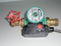 Wilo Smart A-25/4-130 Central Heating Pump and valves