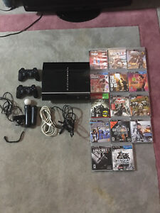 PS3 (80gb) + 14 GAMES + 2 CONTROLLERS + PS MOVE