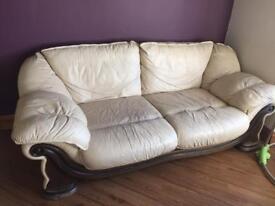 Leather Sofa's (3 & 2 seater)