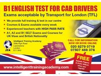 B1 English Test and Course for Cab Drivers