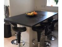 Used Black Breakfast bar with 8 bar stools
