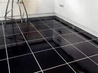 4 new Porcelain black gloss tiles 60 60
