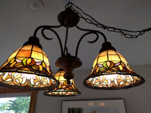Beautiful stained glass chandelier