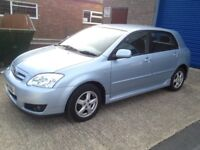 2004 Toyota Corolla 1.4 petrol NEW MOT, FULL SERVICE HISTORY, ONE PREVIOUS OWNER, WARANTY, EXCELLENT
