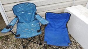 2 kids camp chairs