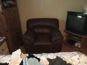 fauteuil une place en cuir