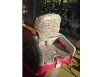 Pink Baby chair - £20