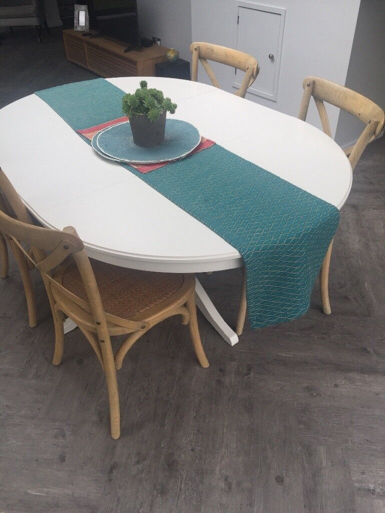 White Extendable Kitchen Table Solid Wood Ikea Ingatorp | in ...