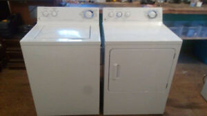 Newer GE top load washer and matching dryer