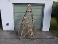 4' and 6' wooden step-ladders