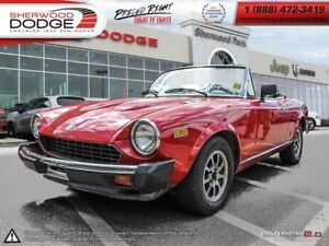 1979 Fiat SPID LUSSO|STANDARD TRANSMISSION|CONVERTIBLE SOFT TOP