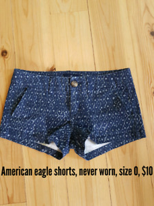 Size 0 American eagle shorts