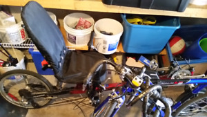 Recumbent bike.