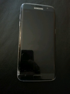 S7 edge with cracked screen