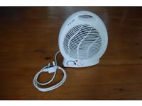 White Electric Heater With Fan and Plug
