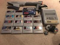 Snes console and games bubdle