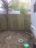 Need work done? New decks or fences.