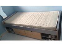 Teenager Single Bed With Storage And Mattress