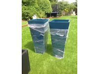 BARGAIN Huge petrol blue planters BARGAIN