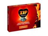 Box of 24 packs of 12 ZIP Firelighters BBQ camping