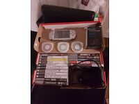 Psp with 11 games and 8 films