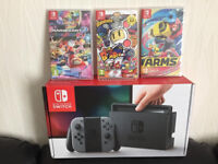 NINTENDO SWITCH CONSOLE BUNDLES - BRAND NEW - mario kart - bomberman - WARRANTY