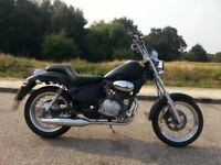 Gilera Cougar 2001 Black 125 Custom - exhaust hanging off - FREE HELMET AND SPARE PARTS