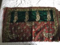 Ladies Antique Embroidery Sari