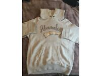 Men's Abercrombie and Fitch Hoodie Grey