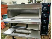 "Commercial Electric Double Deck Stone pizza oven catering equipment."" Brand New """